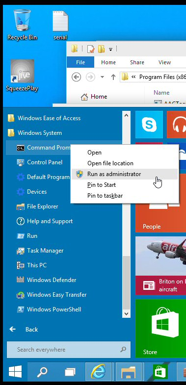 how to run a program in command prompt windows 10