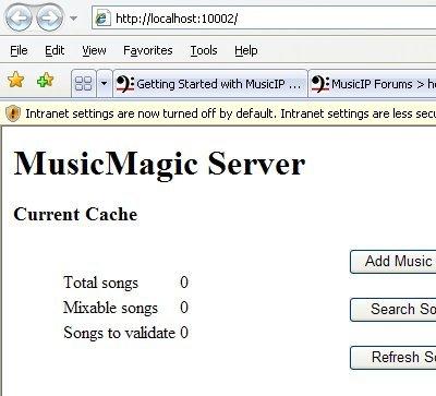 Spicefly - MusicIP Headless - Windows XP